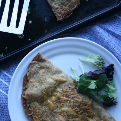 Chicken, Leek and Wholegrain Mustard Buckwheat Pancakes