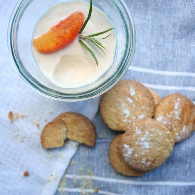 Blood Orange Posset with Blood Orange and Rosemary Biscuits