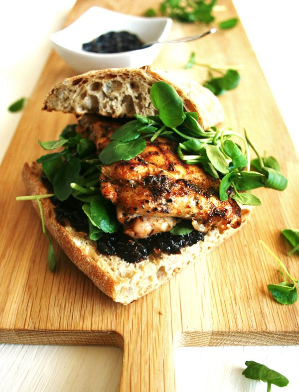 Cajun Chicken and Smoked Chilli Jam Sandwich - a simple, tasty sandwich with a super easy, delicious smoked chilli jam recipe | eatloveeats.com