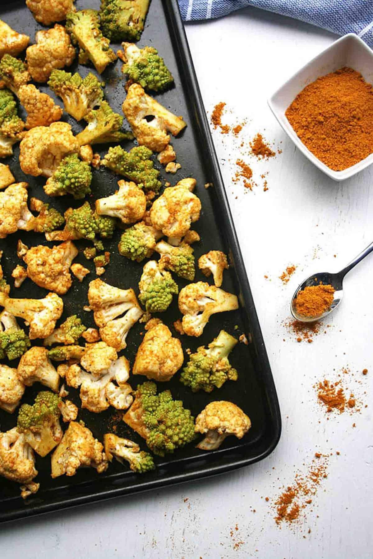 Roasted Cauliflower Farro Salad - A healthy vegan autumnal salad ...