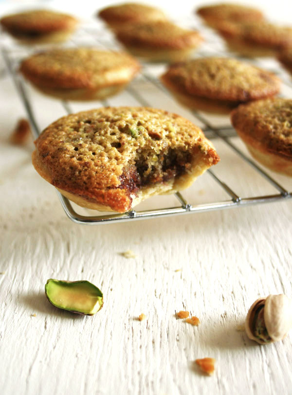 Pistachio Frangipane Tartlets - a simple tart recipe with a nutty filling, perfect alongside a mid-afternoon cup of coffee   eatloveeats.com