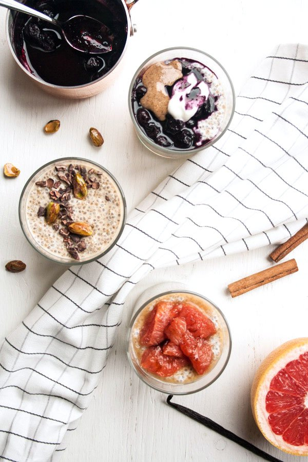 Quinoa Chia Pudding 3 Ways