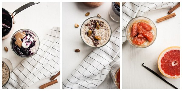 Quinoa Chia Pudding 3 Ways - a healthy, satisfying breakfast full of nutritious quinoa to keep you going until lunchtime | eatloveeats.com