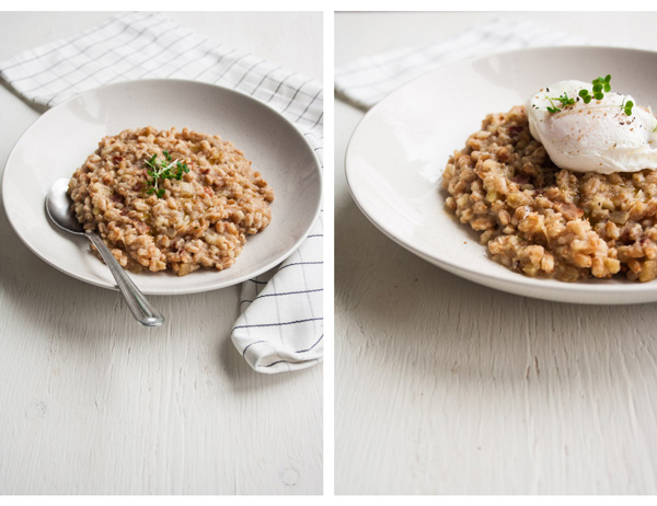 Salt-Baked Celeriac and Bacon Farro Risotto - a cosy, comforting ...