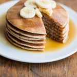 Naturally Sweetened Spelt Pancakes - these healthier pancakes are light yet filling and are dairy- and refined sugar-free! | eatloveeats.com