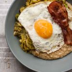 Savoury Porridge with Brussels Sprouts