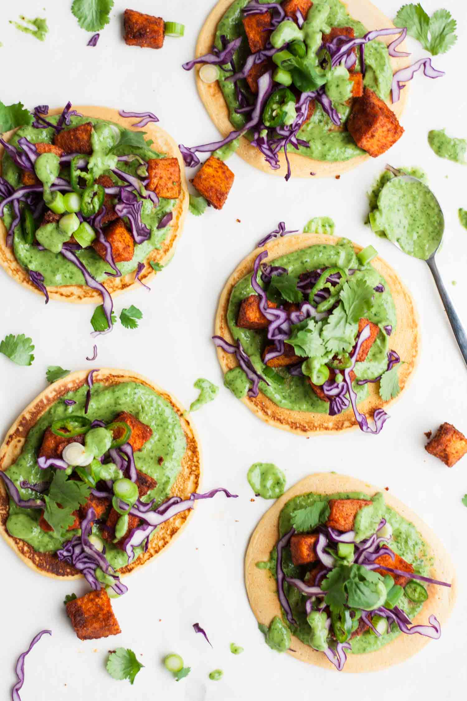 Tandoori Sweet Potato Socca Pizzas