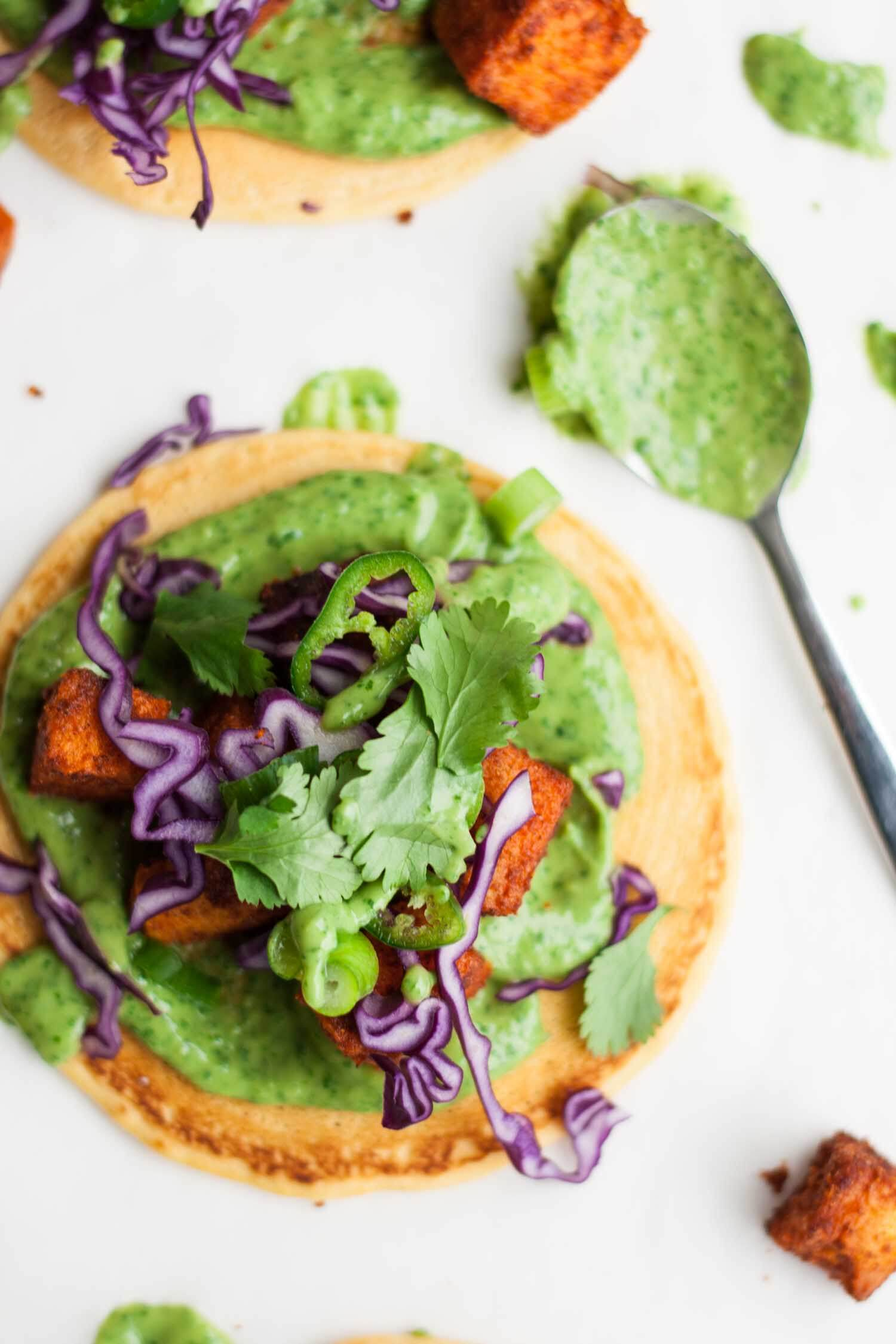 Tandoori Sweet Potato Socca Pizzas - these gluten free and vegan socca pizzas are easy to make and full of flavour, great for feeding a crowd!   eatloveeats.com