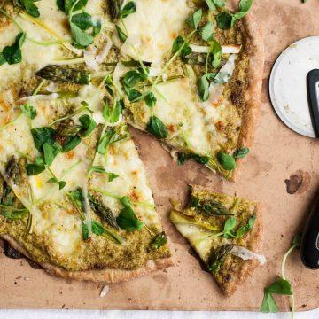 Asparagus Pesto Pizza