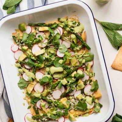 Healthy Asparagus Nachos