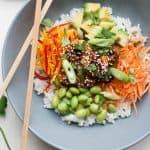 Sticky Rice Salad with Spicy Prawns
