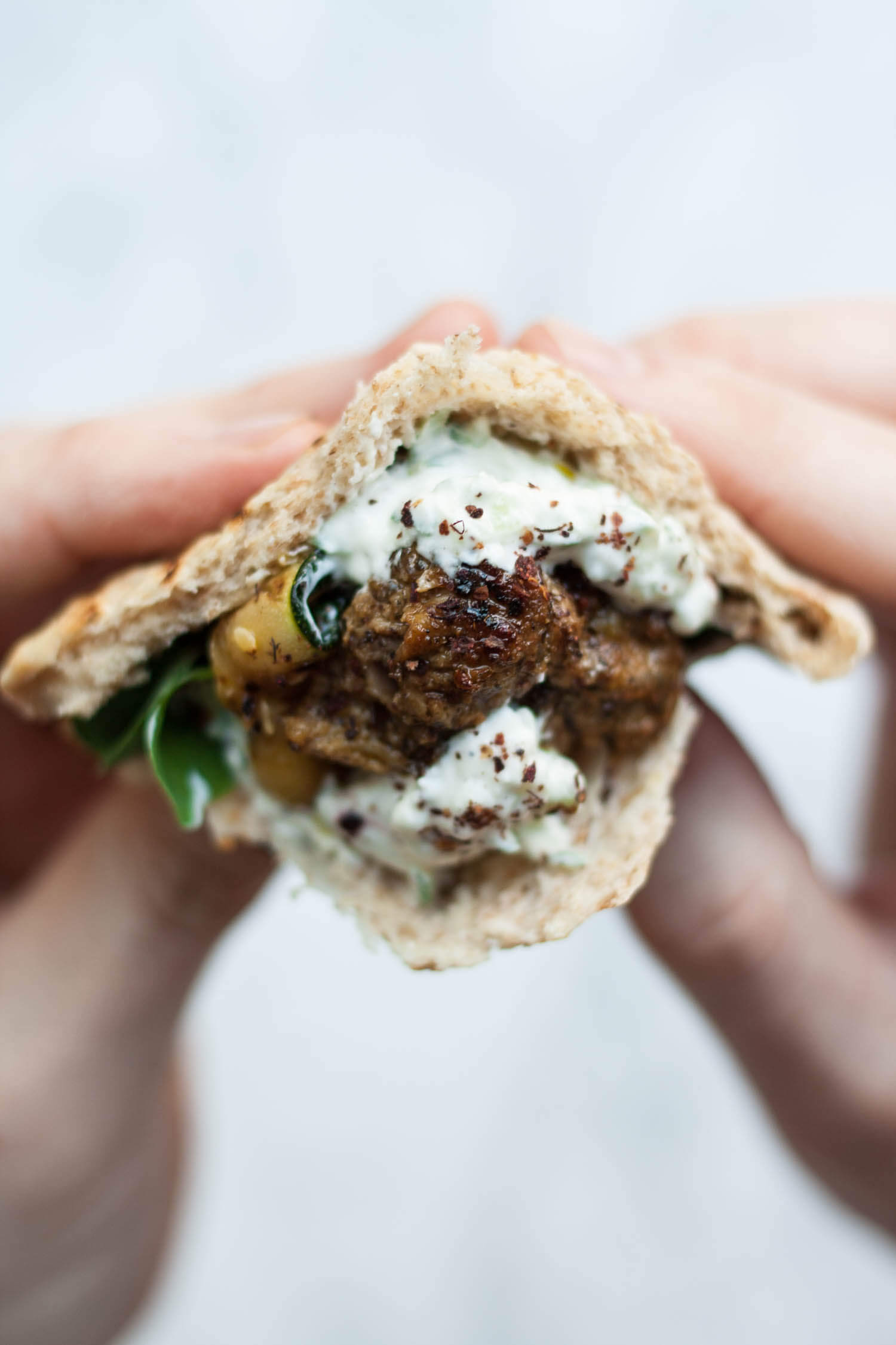 Lamb Souvlaki with Sumac Tzatziki - this simple grilled lamb dish is full of chargrilled flavour, perfect for eating in the garden on summer evenings. | eatloveeats.com
