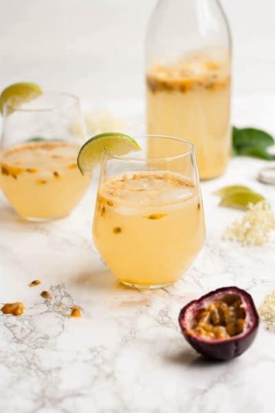 Passionfruit and Elderflower Fizz