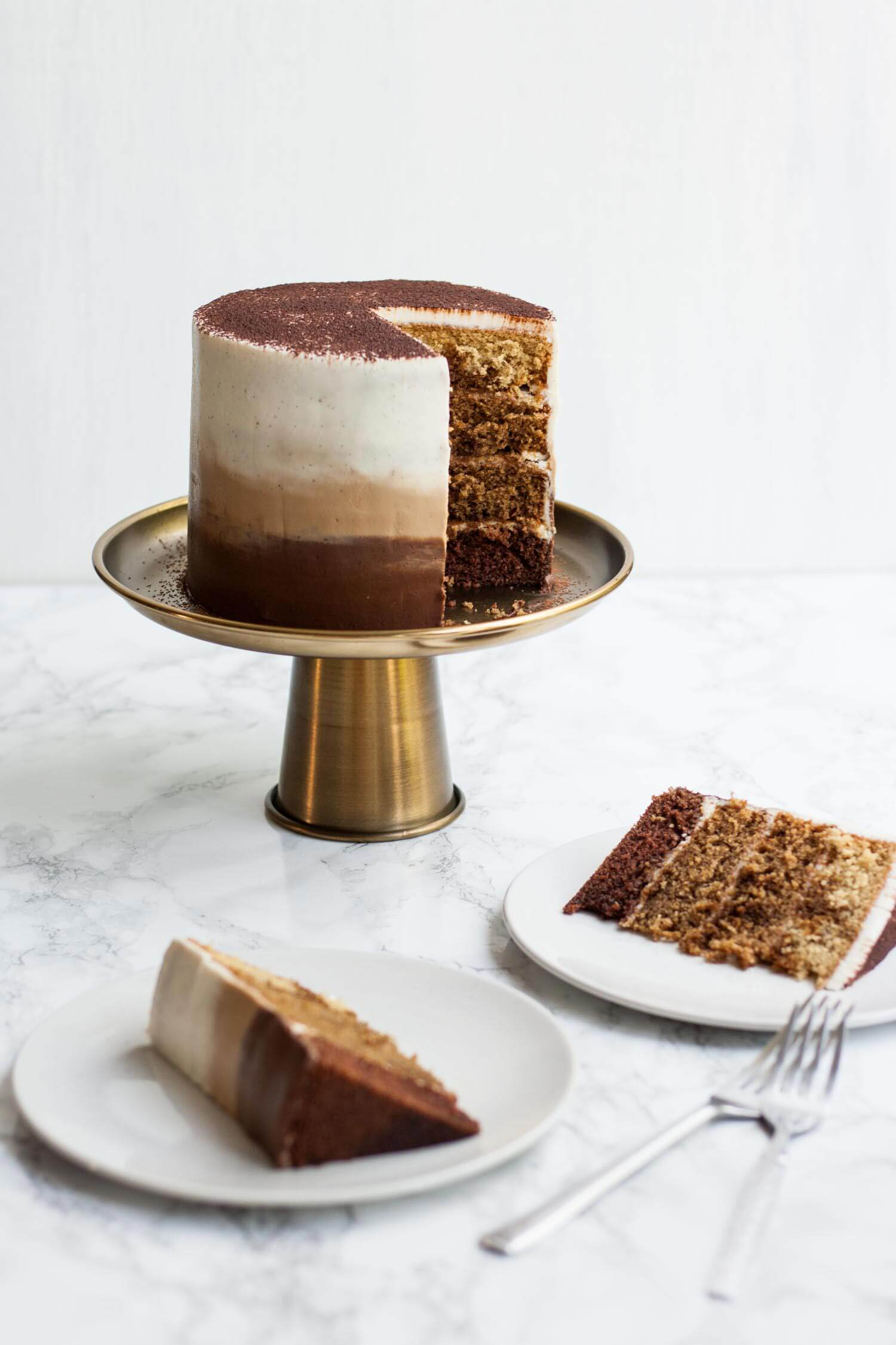 Tiramisu Layer Cake with Ombre Mascarpone Frosting Eat Love Eat
