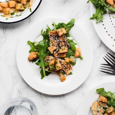 Cantaloupe, Lime and Halloumi Salad