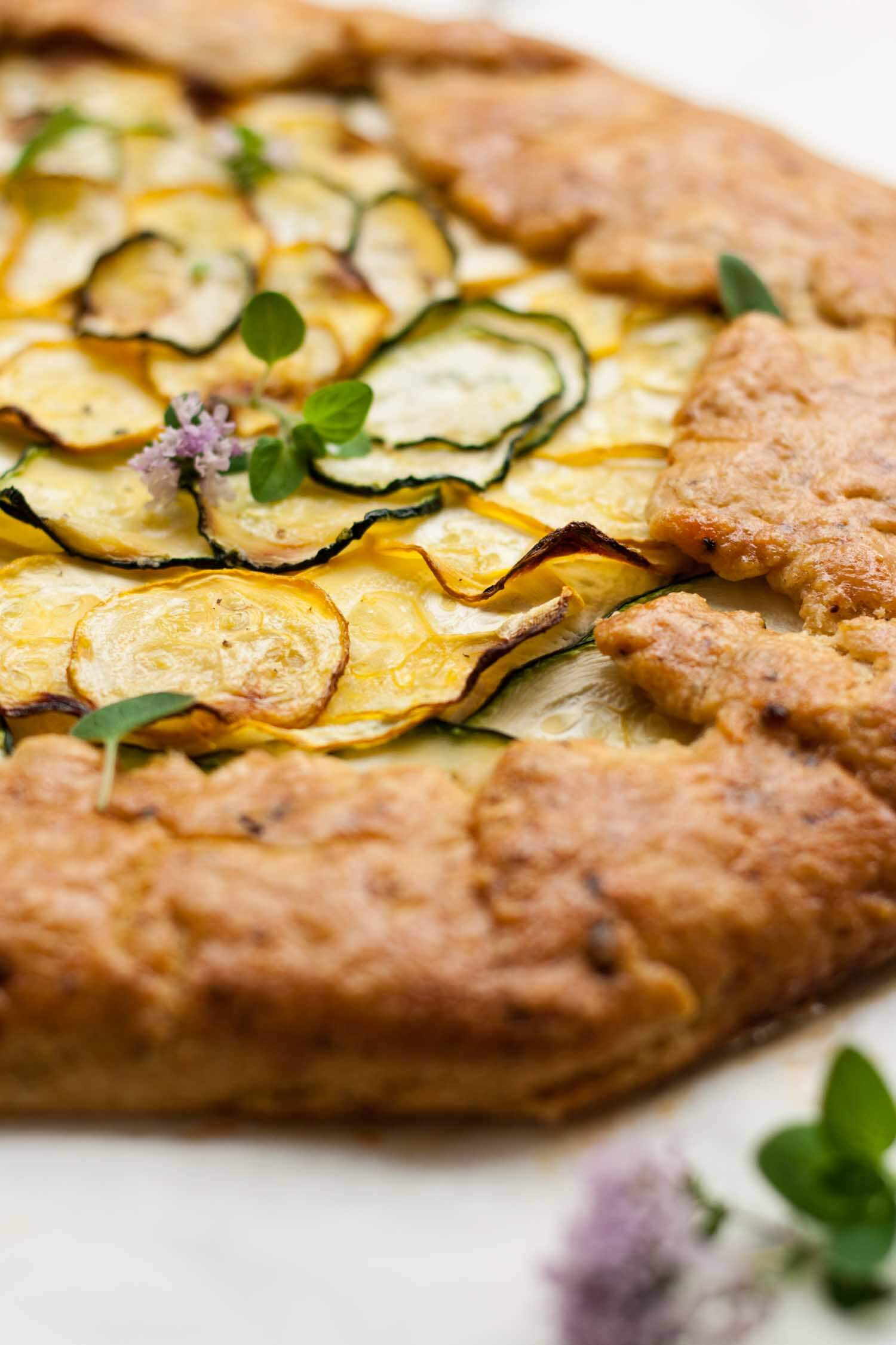 Mexican Courgette and Ricotta Galette - this subtly spiced rustic courgette and ricotta tart is perfect for a picnic!   eatloveeats.com