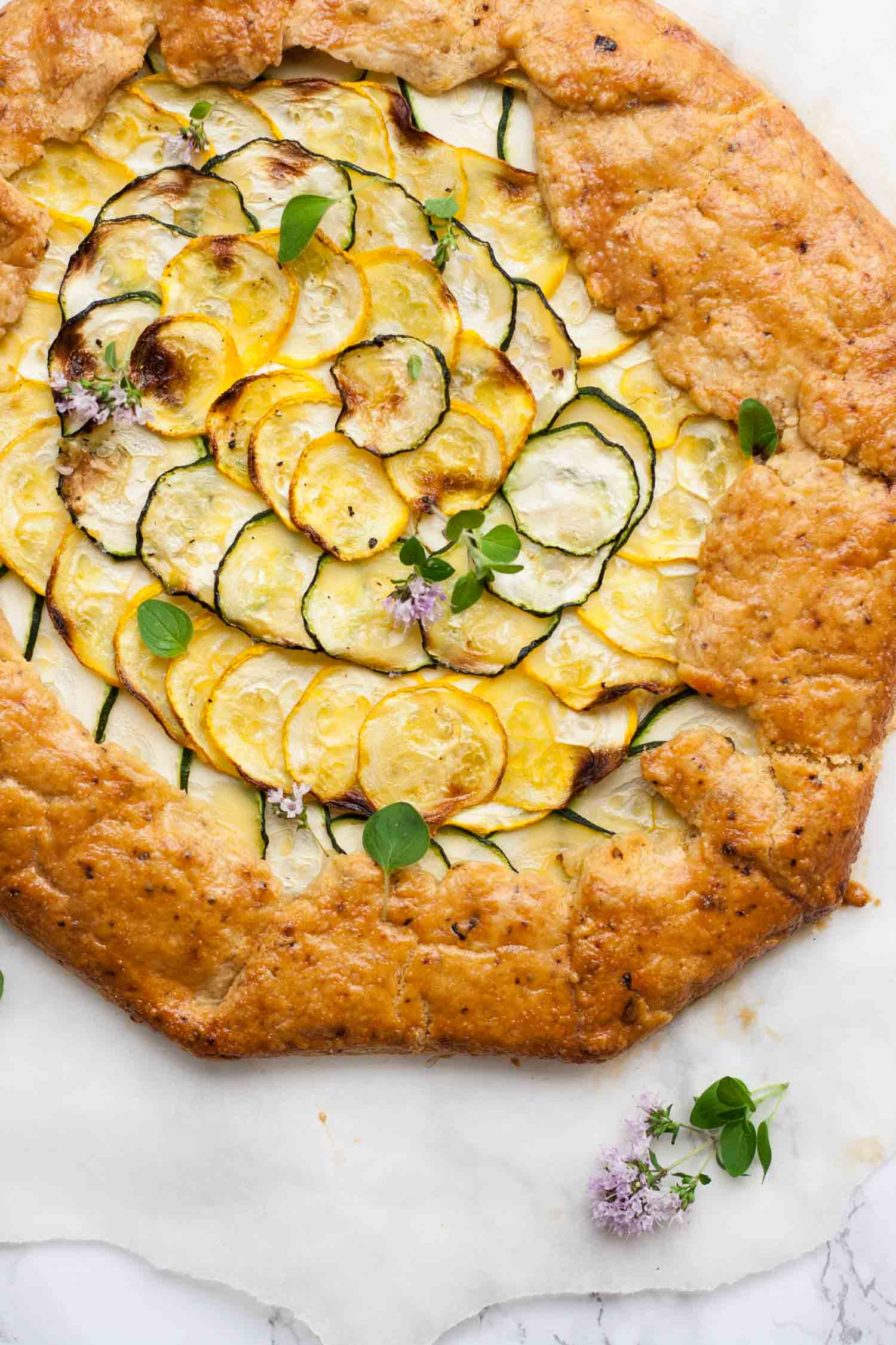 Mexican Courgette and Ricotta Galette - this subtly spiced rustic courgette and ricotta tart is perfect for a picnic! | eatloveeats.com
