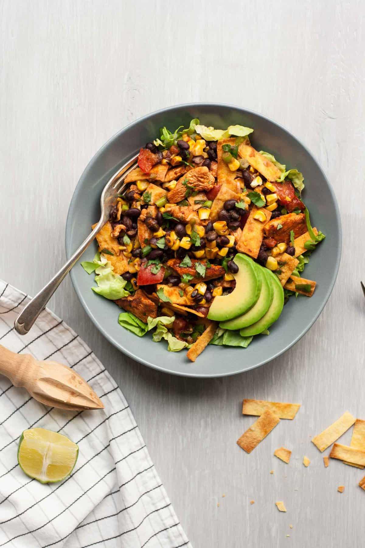 Chicken Tostada Salad - Eat Love Eat