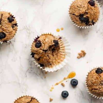 Quinoa Spelt Blueberry Breakfast Muffins
