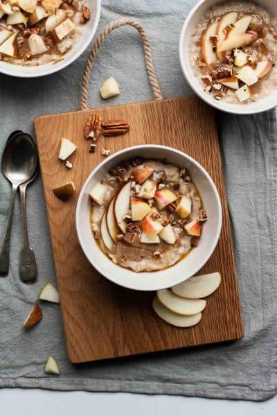 Maple Pecan Oatmeal Bowls