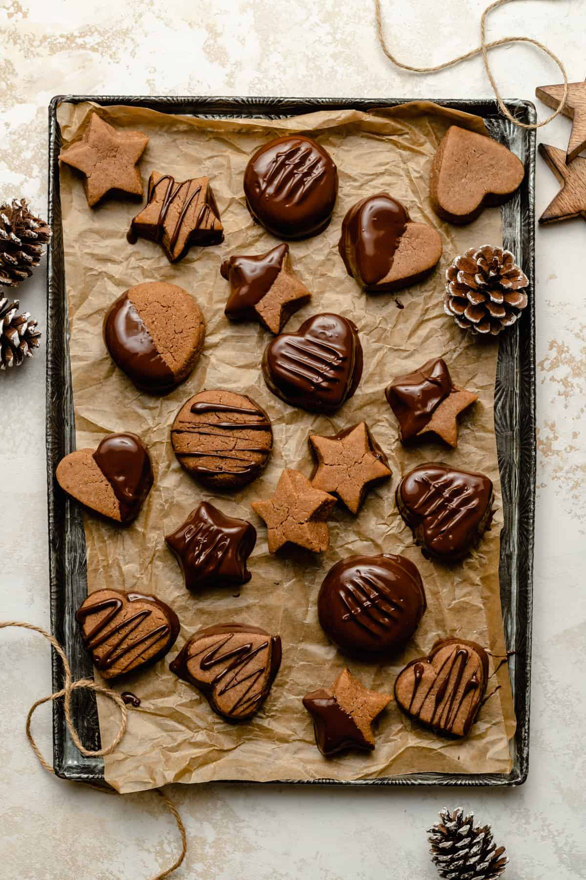 Chocolate Dipped Lebkuchen - these easy ginger spiced cookies make the perfect Christmas treat or edible gift!   eatloveeats.com