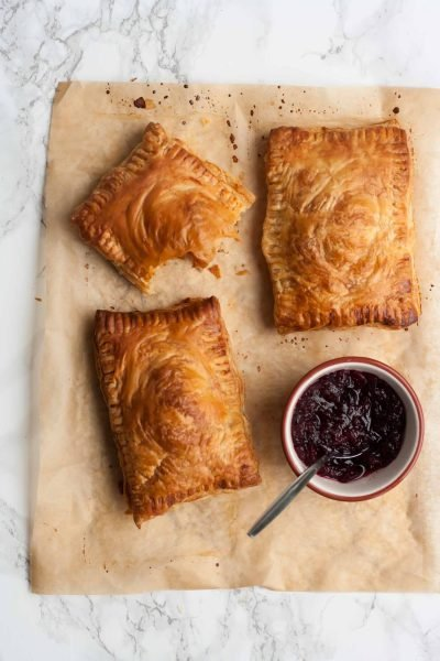 Spiced Leftover Turkey and Cranberry Pastries