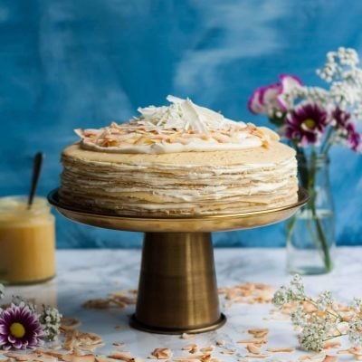 White Chocolate Lemon Curd Crepe Cake