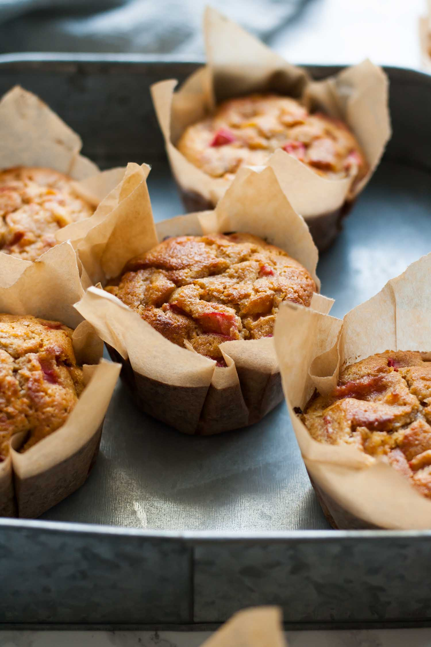 Blood Orange Rhubarb Muffins - these muffins are easy to make, full of delicious seasonal fruit and are perfect for breakfast! | eatloveeats.com