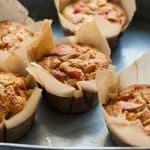 Blood Orange Rhubarb Muffins