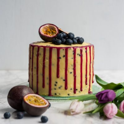 Blueberry Passionfruit Layer Cake