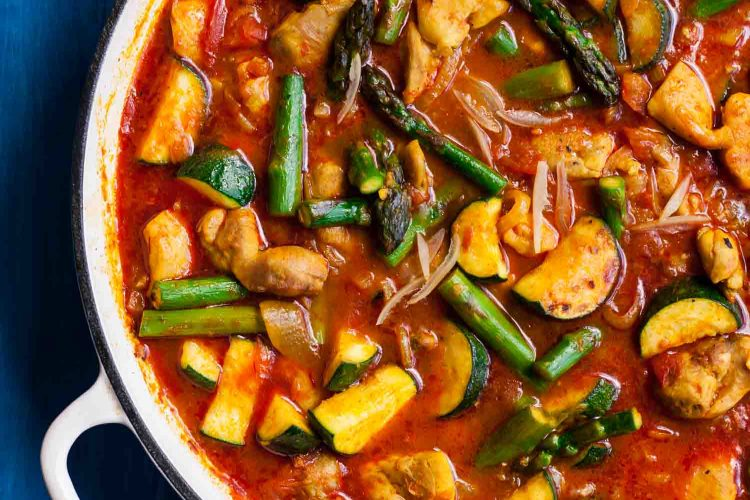 Spring Vegetable Chicken Tagine