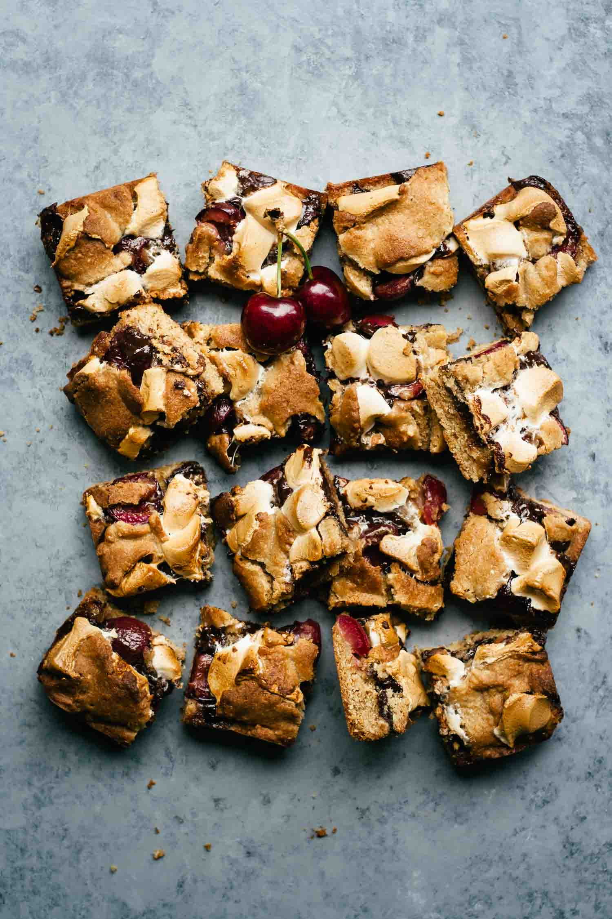 Dark Chocolate Cherry S'mores Bars   Dessert   Marshmallows   Summer   Easy   Campfire