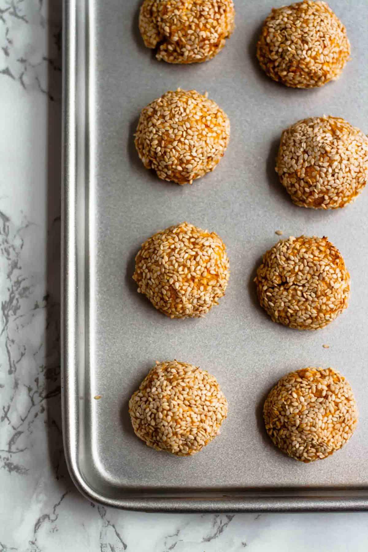 Sesame Sweet Potato Falafels