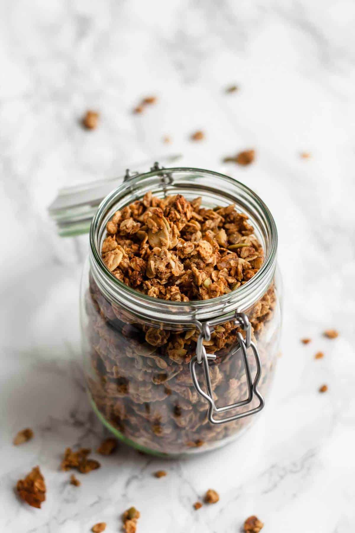 Healthy Granola with Dates and Ginger