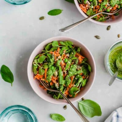 Quinoa Salad with Pesto and Peas