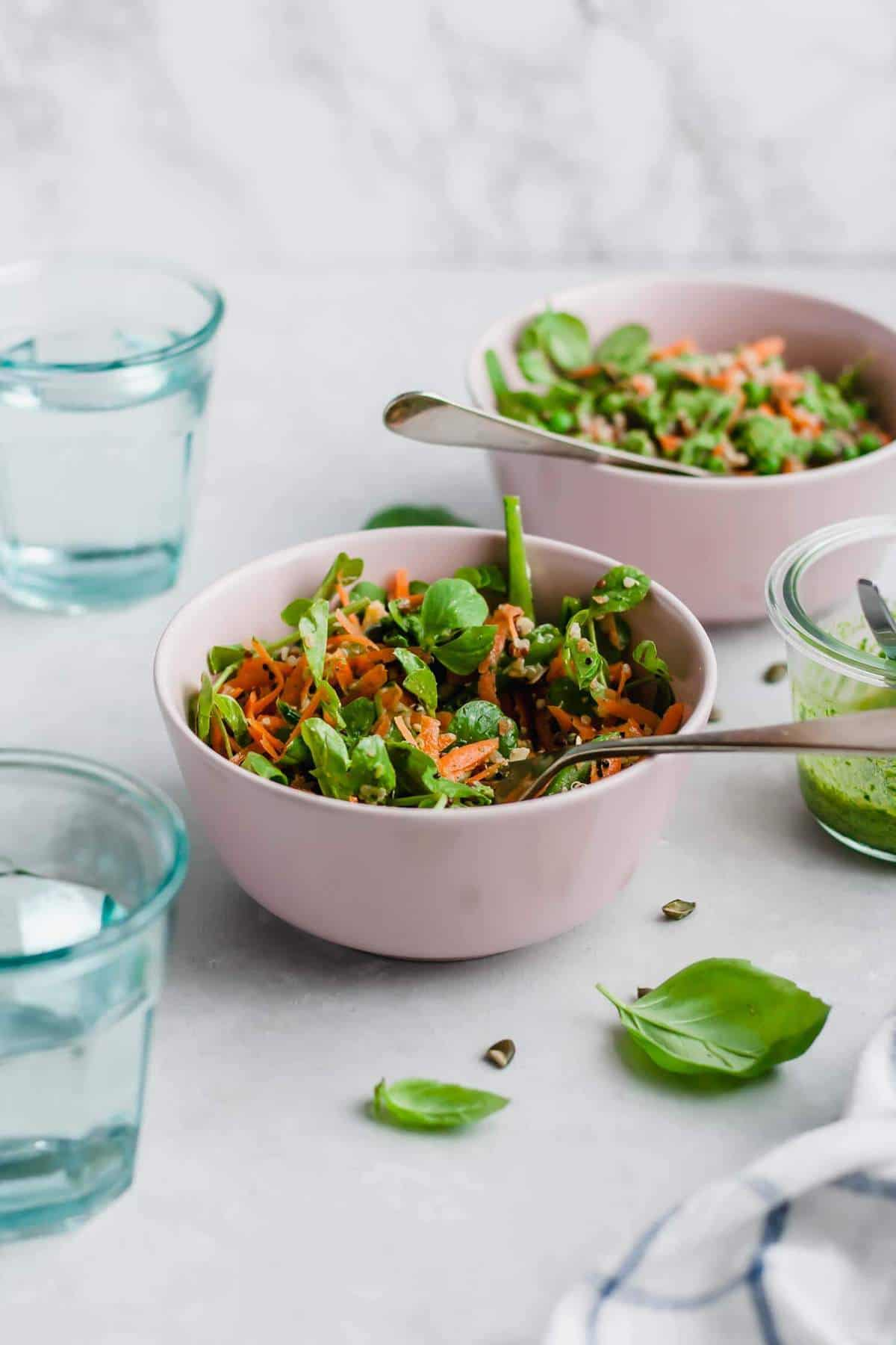 Quinoa Salad with Pesto and Peas
