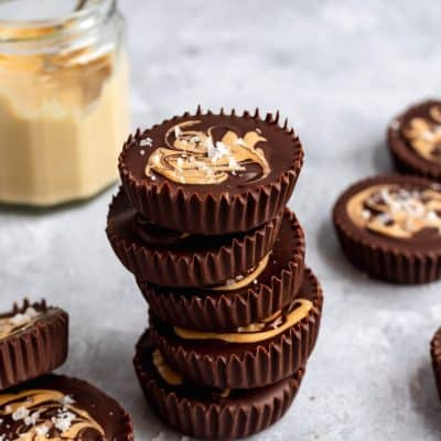 Dark Chocolate Cashew Butter Cups