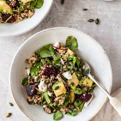 Beetroot Avocado Feta Salad