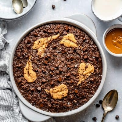 Double Chocolate Peanut Butter Baked Oatmeal