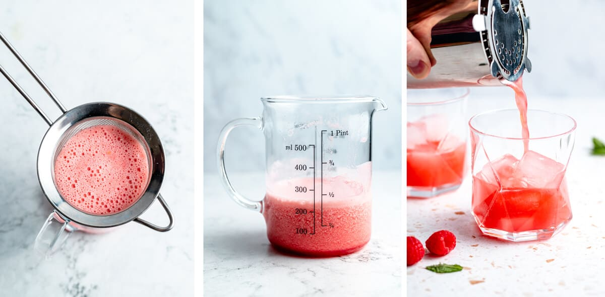 final process steps for making the mocktail