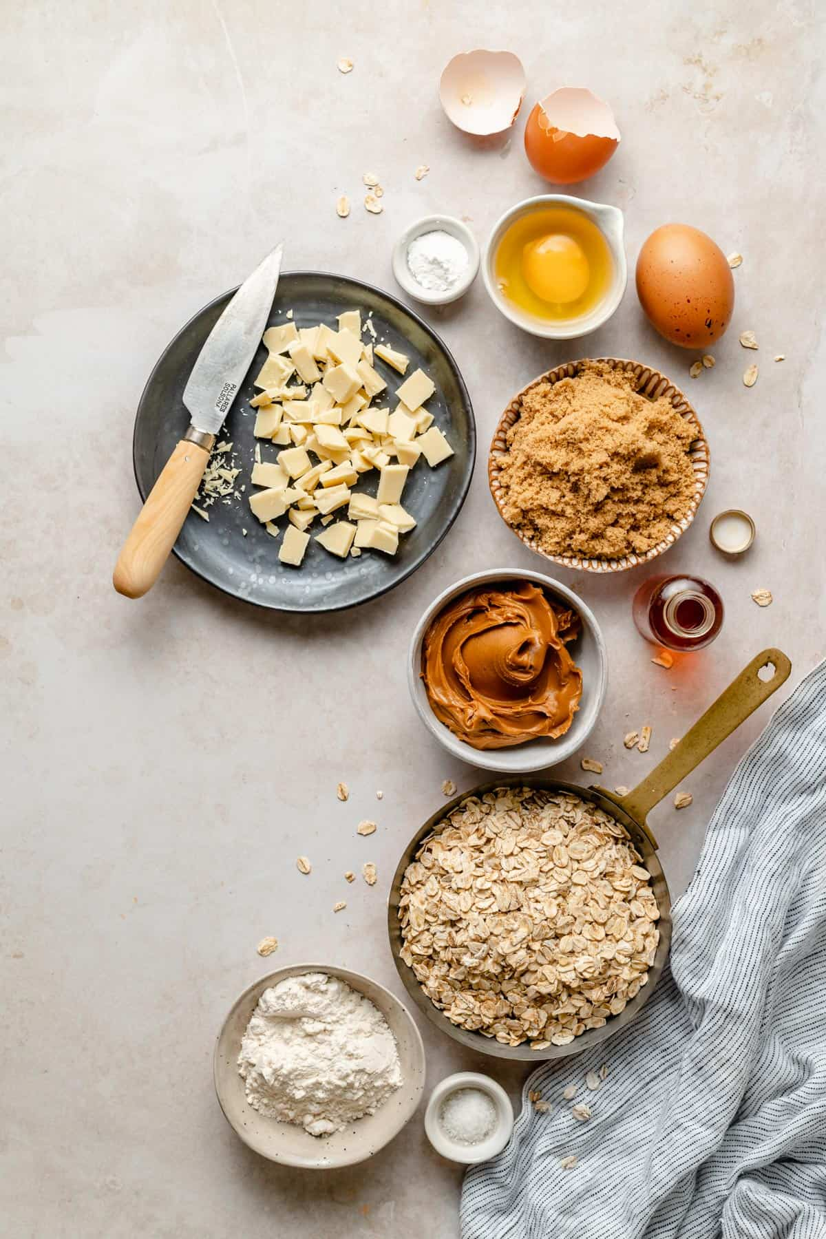 Ingredients for the recipe in separate dishes