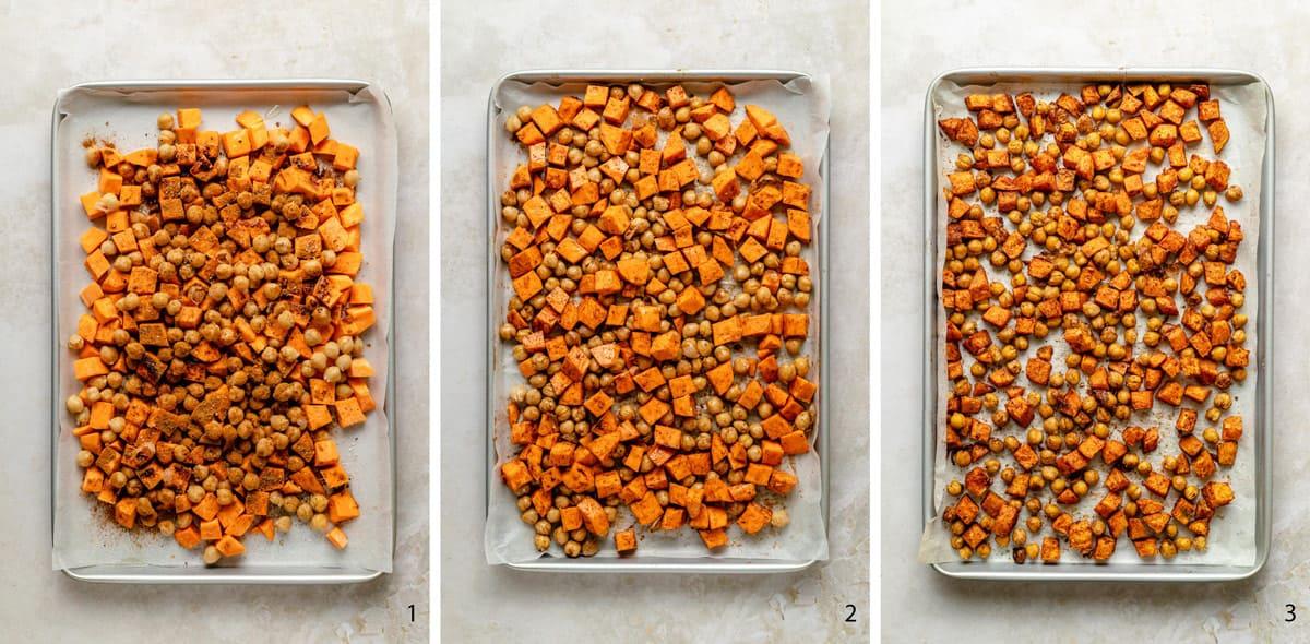 process steps to roast veggies